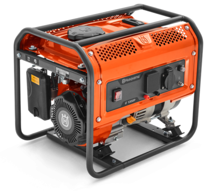 Генератор Husqvarna G1300P (Двигатель Husqvarna. 98.5cм3. ручной запуск. 1 кВт(макс.). 230В. 50Гц. преобразователь 12В)