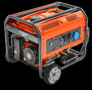 Генератор Husqvarna G5500P (Двигатель Husqvarna. 389 cм3. ручной запуск +электростартер. 5.5 кВт (макс.). 230В. 50Гц. 1 фаза)