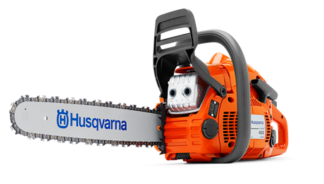 Бензопила Husqvarna 450e II (2.4кВт/3.2 л.с.. X-TORQ. облегченный запуск. 15. 0.325. X-Cut SP33G. Pixel. 1.3мм. X-Force)