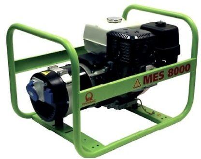 Миниэлектростанция портативная бензиновая PRAMAC  MES8000  Двигатель Honda GX 390  Номинальная мощность. КВА 6.0 230V 50HZ